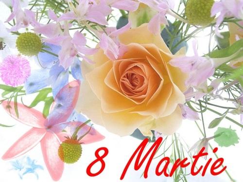 Planse de colorat pentru 8 Martie